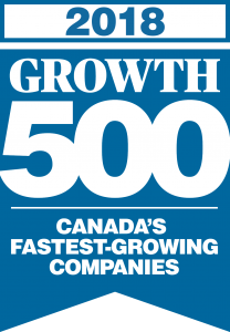 The 2018 Growth 500 Seal, awarded to Canada's 500 fastest-growing companies.